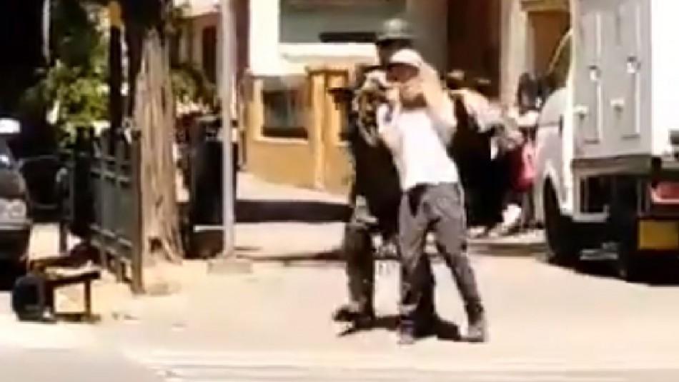 Fiscalía solicita formalizar a carabinero que usó a joven como escudo humano en Rancagua