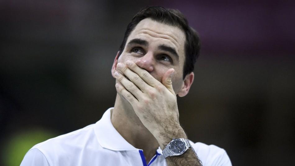 Roger Federer se emocionó en Argentina.