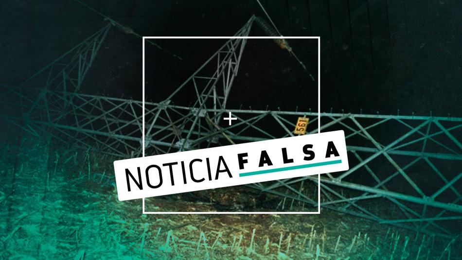 La falsa noticia del ataque a torres de alta tensión en el sur de Chile que se hizo viral