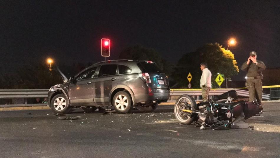 Accidente vehicular deja un fallecido en camino Lonquén