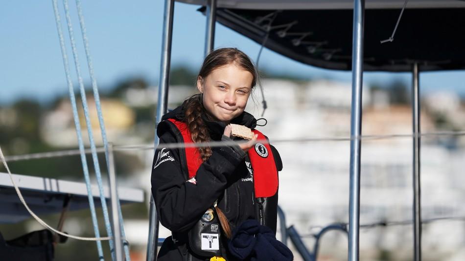 Así fue la llegada de Greta Thunberg a Europa para la COP25 en Madrid