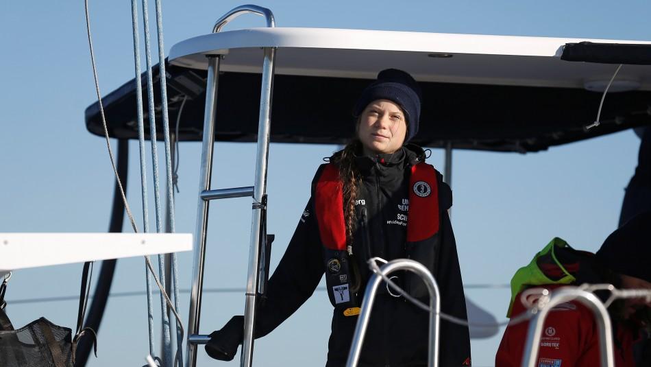 Greta Thunberg llega a Lisboa en su camino a Madrid para la COP25