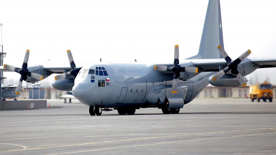 FACh despliega equipo de búsqueda y salvamento por avión