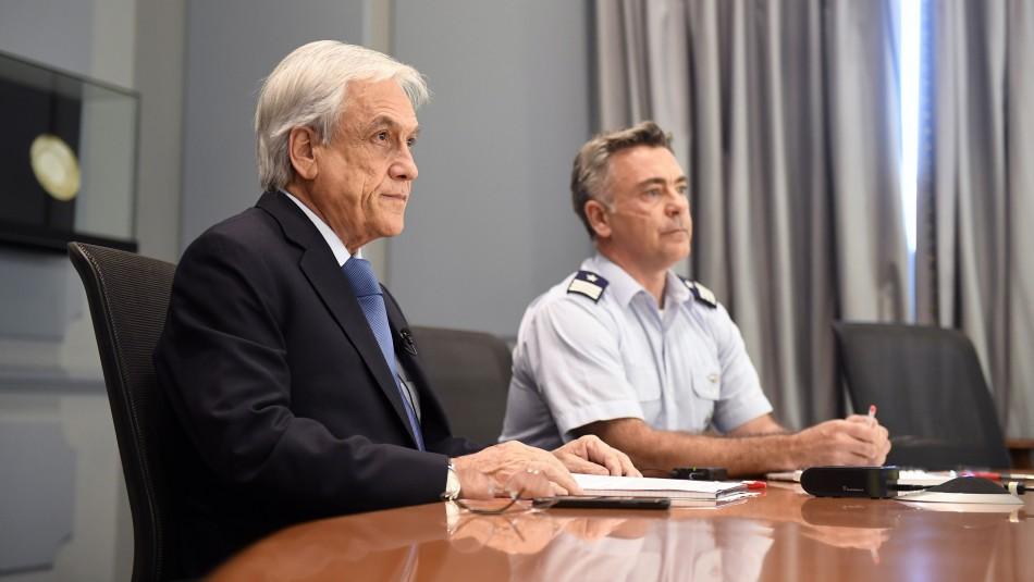 Presidente Piñera pide agotar todos los medios de búsqueda para encontrar avión de la FACh