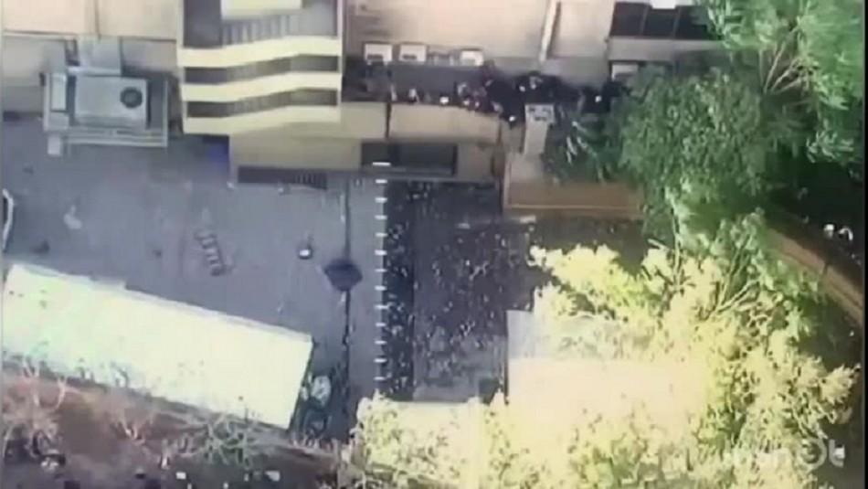 Desconocidos ingresaron a dependencias de Hotel Crowne Plaza: Camioneta resultó quemada