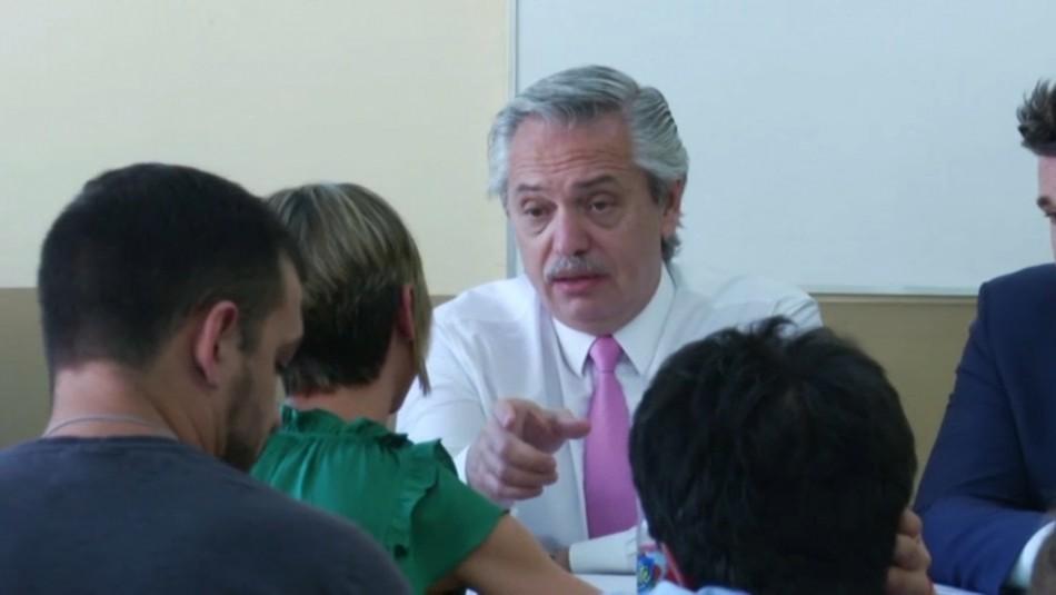 Presidente de Argentina tomó examen a sus estudiantes de la Universidad de Buenos Aires