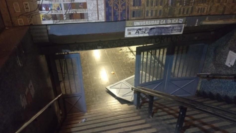 Metro anuncia el cierre de estación Universidad Católica para este sábado