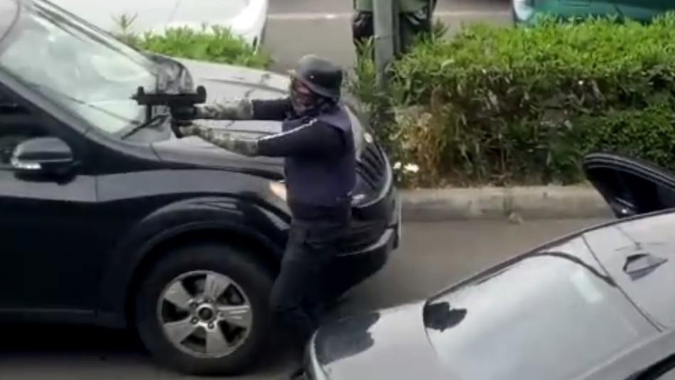 Videos muestran cómo sujetos armados asaltaron sucursal de BancoEstado en Maipú