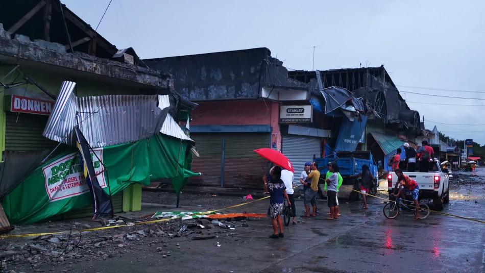 Los registros del terremoto de 6,8 grados que afectó a Filipinas