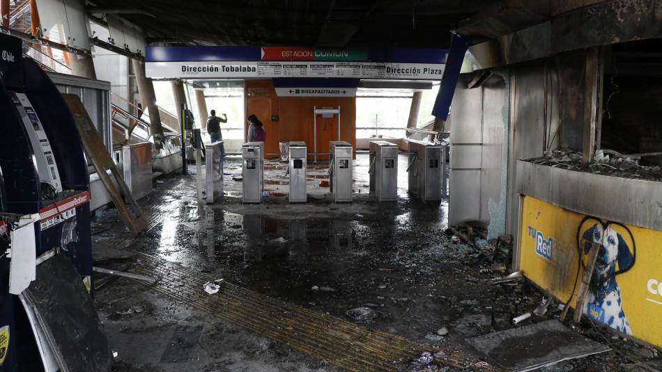 PDI identifica a otras 14 personas por su responsabilidad en daños a estaciones de Metro