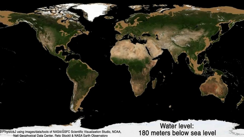 NASA revela cómo sería el planeta Tierra sin océanos