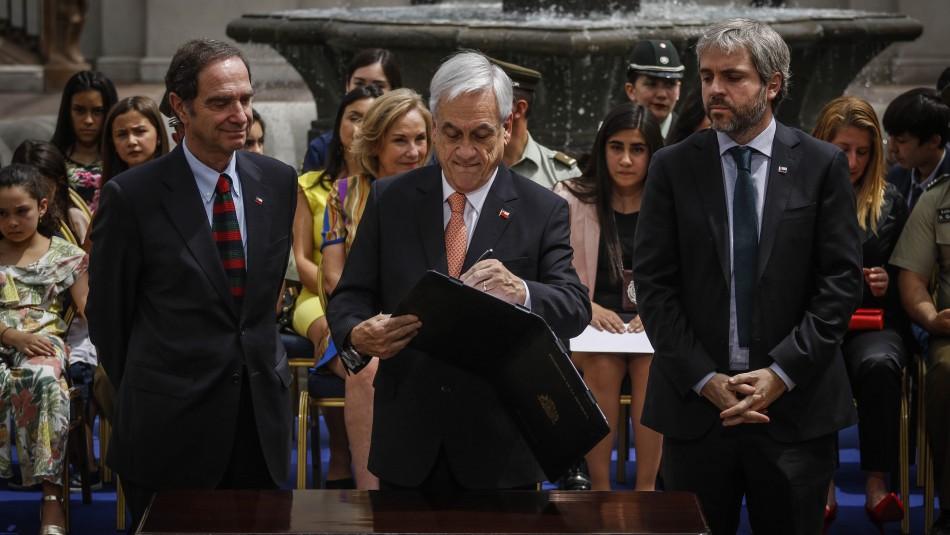 Piñera firma proyecto de protección a policías: