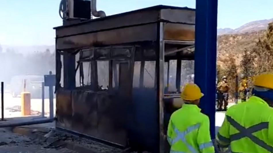 Manifestación termina con quema de casetas de peaje en Ovalle