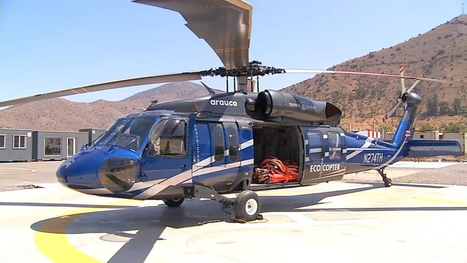 Helicóptero Black Hawk se suma para combatir incendios forestales durante el verano