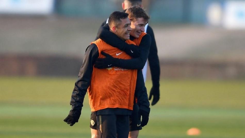 Buenas noticias: Alexis Sánchez volvió a los entrenamientos en el Inter de Milán