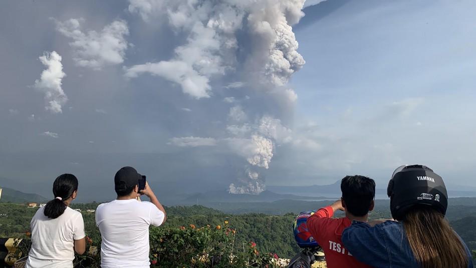 Los registros de actividad en volcán de Filipinas y por lo cual hubo miles de evacuados en el país