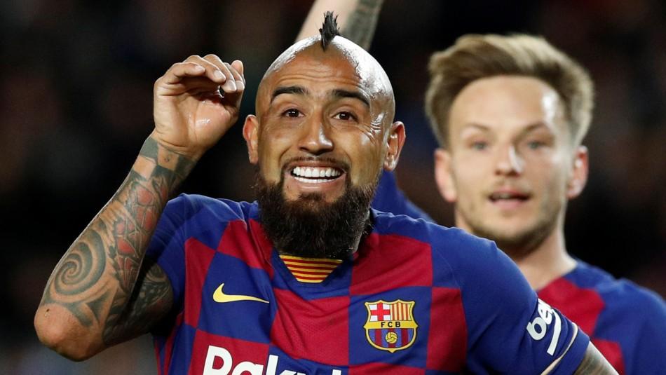 Arturo Vidal fue elegido como la figura del Barcelona en último encuentro