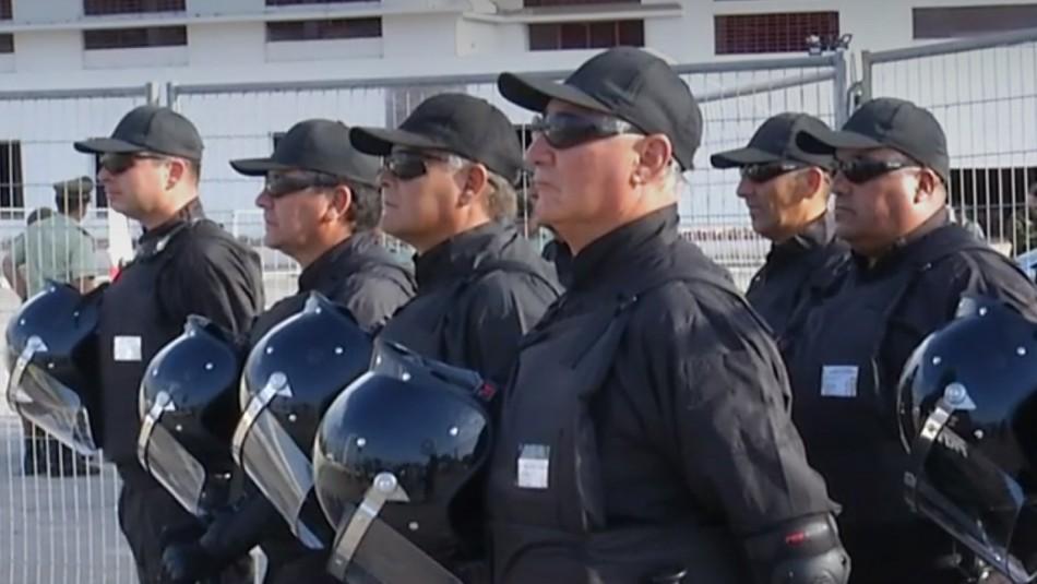 Guardias especializados del fútbol chilenos.