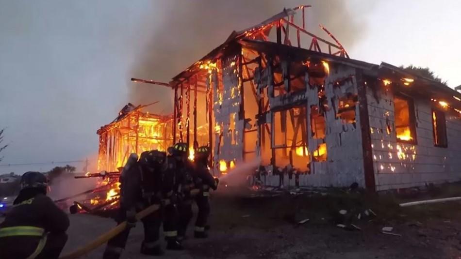 Detenido por incendio en Iglesia San Francisco de Ancud será formalizado