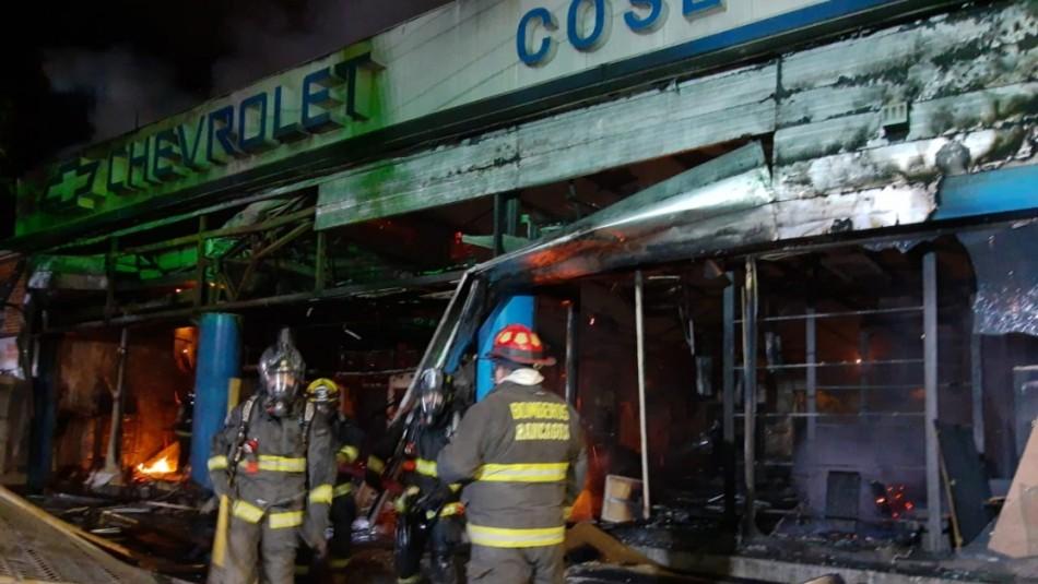 Incendio destruye automotora en Rancagua