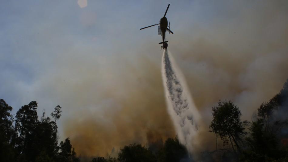 Onemi declara alerta roja en cuatro comunas del país por incendios forestales