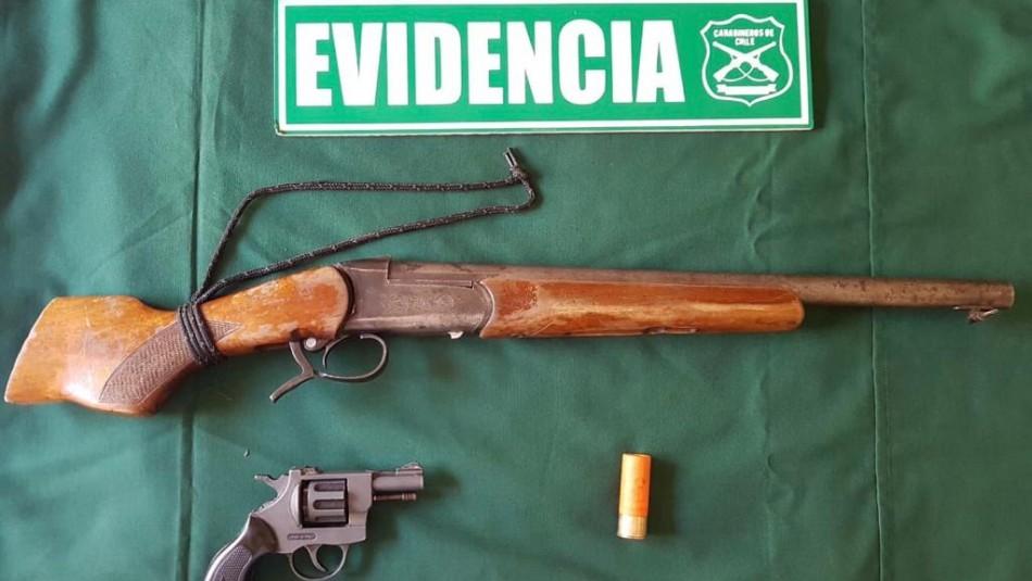 Mujer apuntó con una escopeta a funcionarios de Carabineros en plena persecución en Puchuncaví