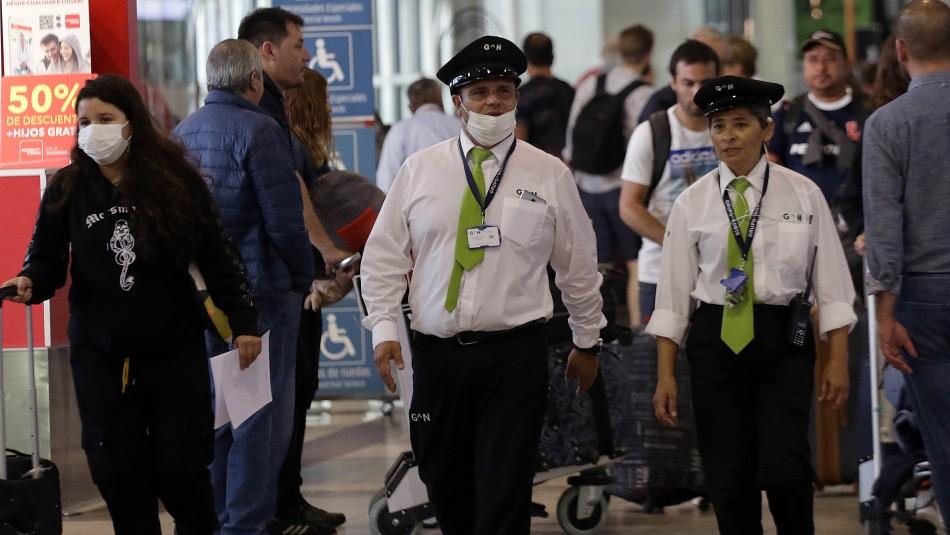 Activan protocolos en aeropuerto de Santiago para prevenir el coronavirus