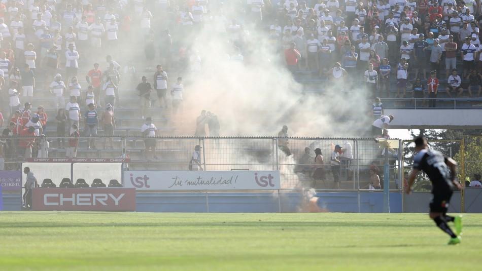 UC sanciona a hincha con 14 años de prohibición de entrada a estadios tras desmanes