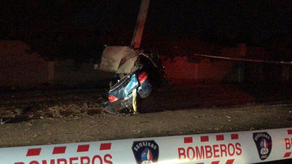 Presunto asaltante muere tras chocar en vehículo robado a conductor de aplicación