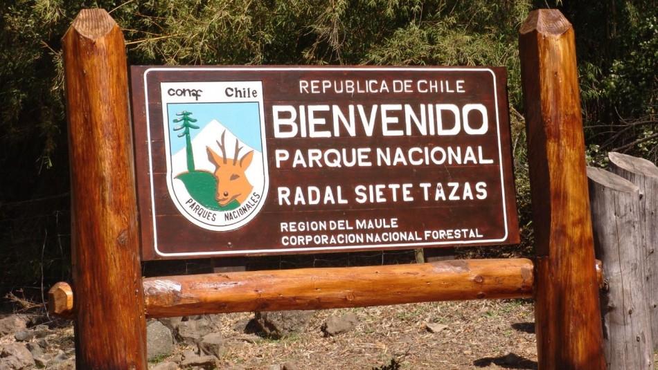Conaf cierra senderos de Parque Nacional Siete Tazas por amenaza de incendio forestal