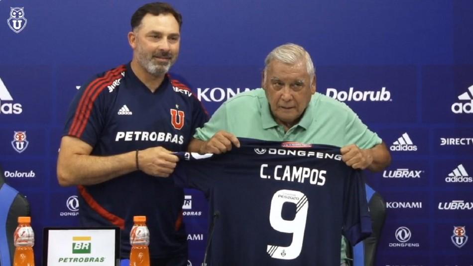 Homenaje a Carlos Campos en la U.