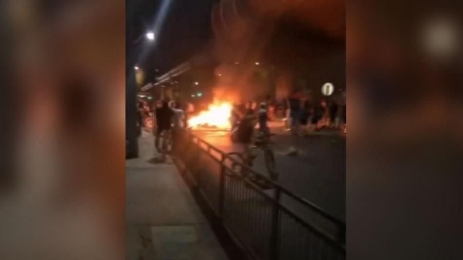 PDI busca a responsables del incendio en la estación de Metro Los Quillayes