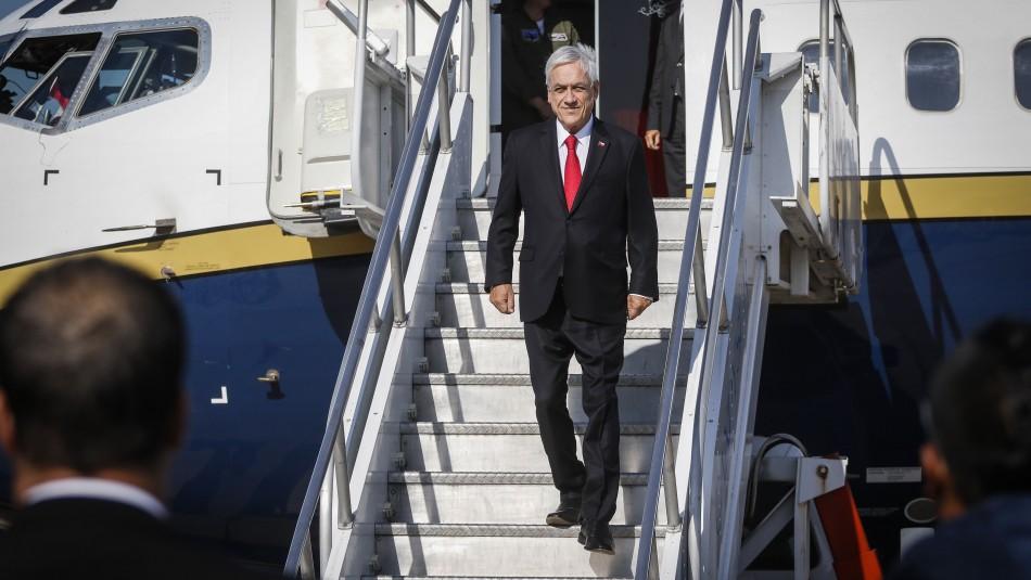 Piñera llega a Uruguay por cambio de mando presidencial en su primera salida tras el estallido social