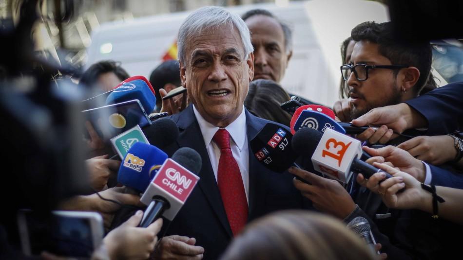 Piñera y manifestaciones:
