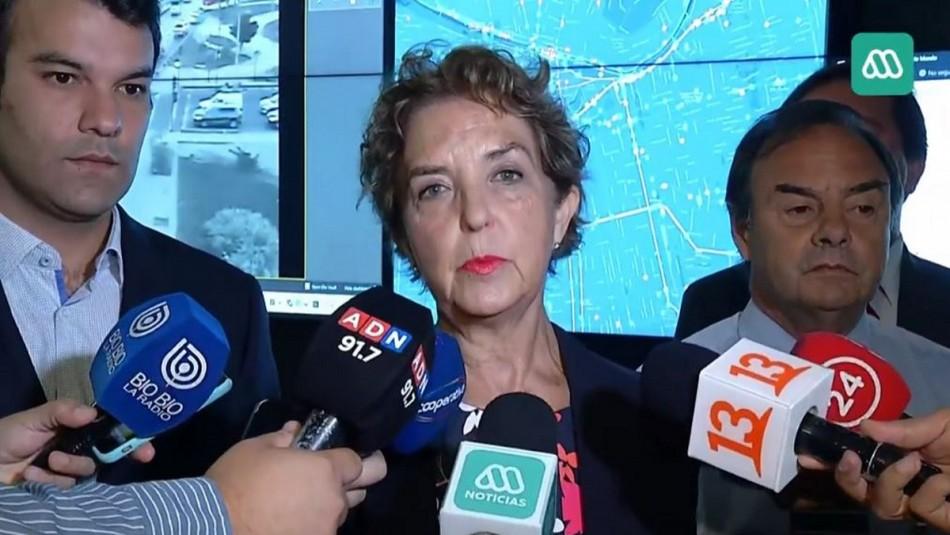 Ministra de Transportes sobre incidentes en la capital: