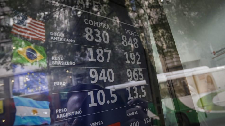 El dólar se dispara en Chile y alcanza su máximo histórico
