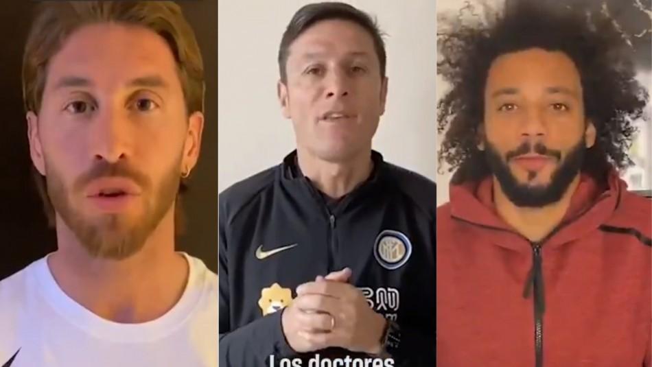 El mensaje del mundo del fútbol.