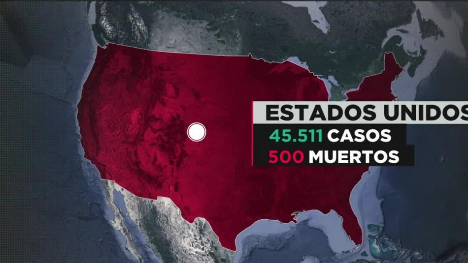 COVID-19 en Estados Unidos: Más de 100 muertos en un solo día