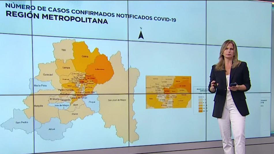 Revisa cuáles son las comunas con más contagios de coronavirus en Chile