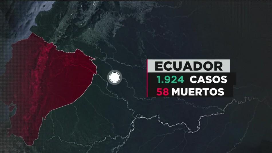 COVID-19 en Ecuador: Al menos 58 muertos por la pandemia y 1.924 contagiados