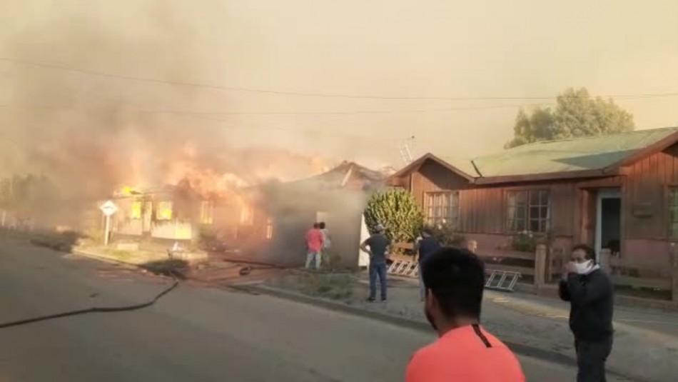 Al menos 12 viviendas y 30 hectáreas consumidas por incendio forestal en comuna de Arauco