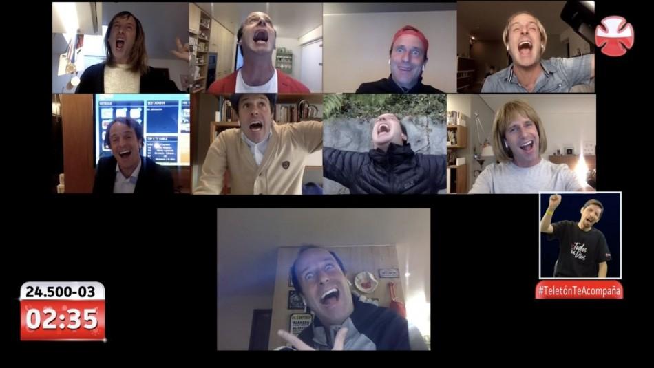 La videollamada de los famosos que sacó risas en la rutina de Kramer en Teletón 2020