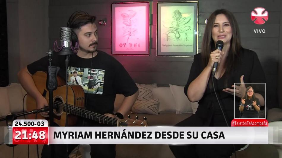 Myriam Hernández y su hijo emocionaron a todos en la Teletón con