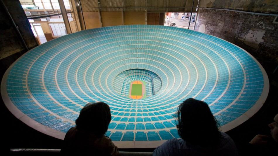 ¿Cómo sería?: Artista crea maqueta de un estadio para un millón de espectadores