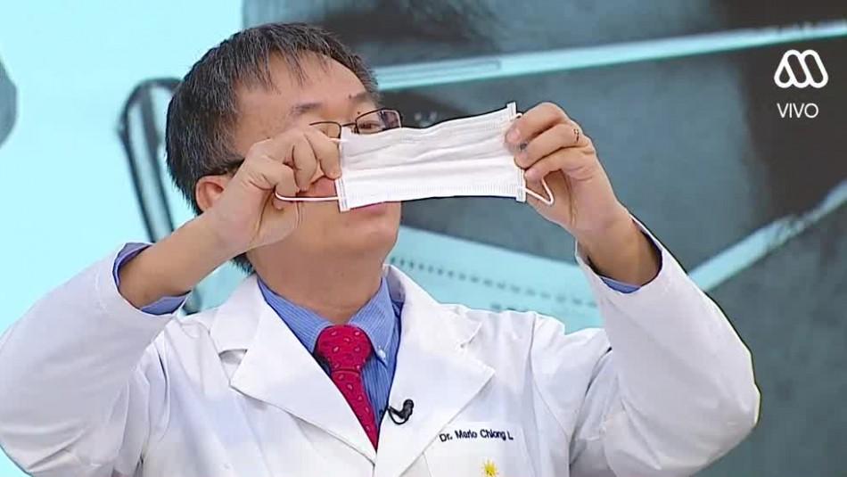 Doctor explicó cómo colocar, usar y sacarse correctamente la mascarilla
