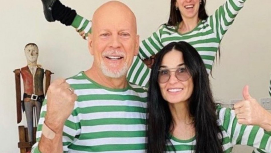 Bruce Willis y Demi Moore se vuelven a unir en cuarentena y hacen una particular pijamada