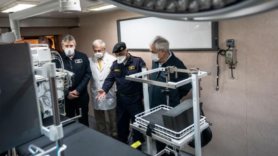 Región del Biobío: Presidente Piñera visitó buque