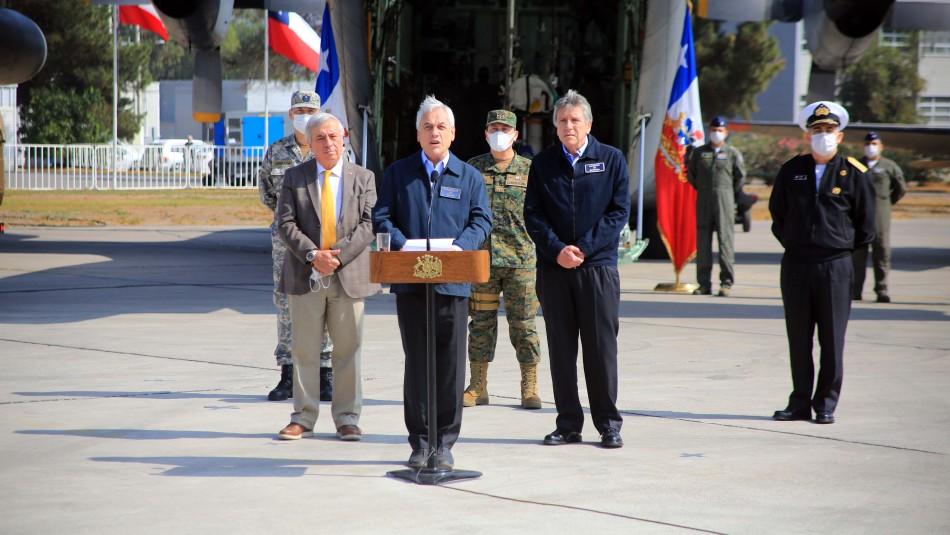 Presidente Piñera señaló que se denunciará ante la Fiscalía a quienes no respeten los cordones sanitarios