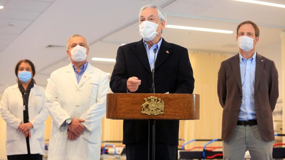 Piñera participa de puesta en marcha del nuevo hospital Félix Bulnes: Aportará 500 camas al sistema público