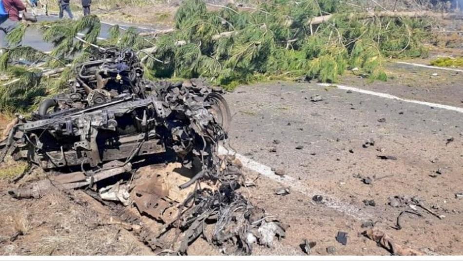 Sujetos armados provocan incidentes en Tirúa que termina con ataque explosivo a puente